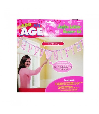 Add on Age Jumbo Letter Banner Princess - 129007