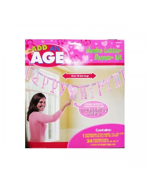 Add on Age Jumbo Letter Banner Princess - 129007