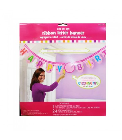 Add on Age Jumbo Letter Banner Girl Candy Land - 121539