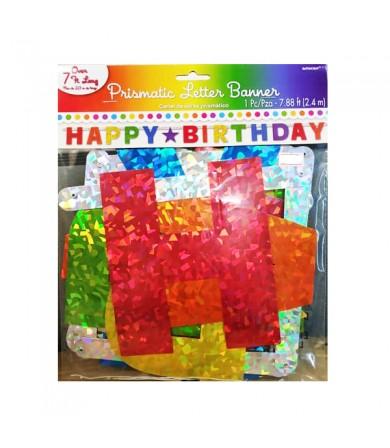 Letter Banner - Prismatic Happy Birthday 120175