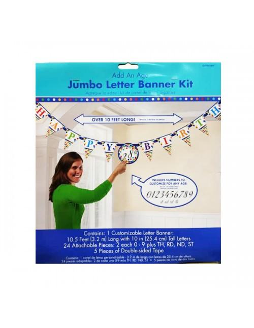 Add on Age Jumbo Letter Banner Bright Birthday - 120198