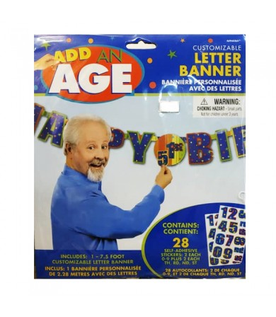 Add on Age Letter Banner Celebration H-B'day - 128695