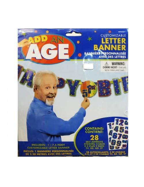 Add on Age Letter Banner Celebration H-B'day - 128695