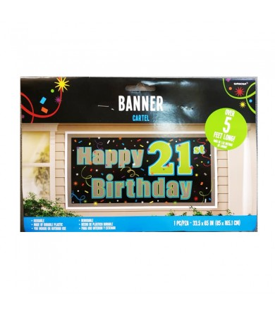 Banner 21st Happy Birthday - 211566