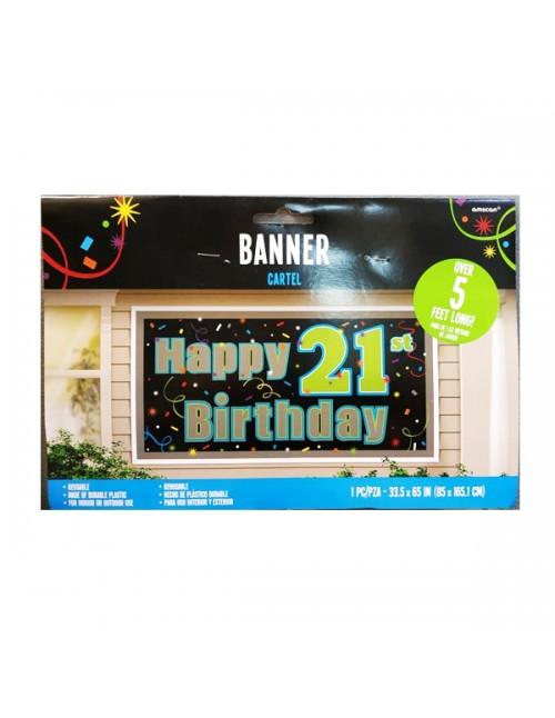 Banner 21st Happy Birthday - 211566