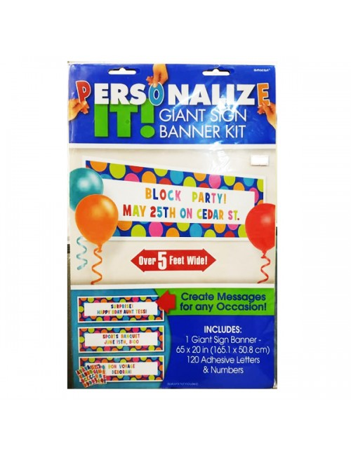 Giant Sign Banner Personalize it - 123671