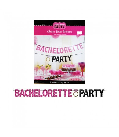 Letter Banner - Glitter Bachelorette Party 210371