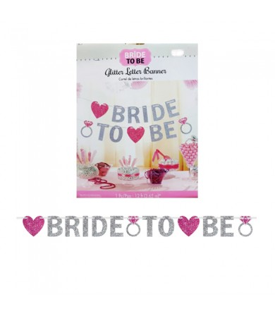 Letter Banner - Glitter Bride To Be 210372