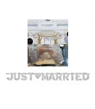 Letter Banner - Just Married 122594