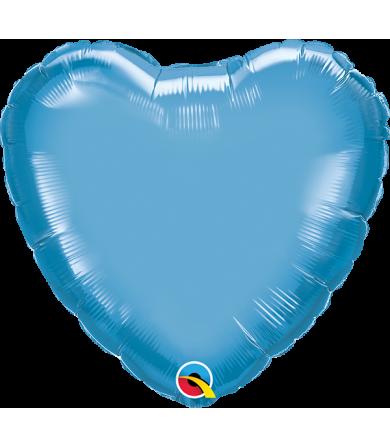 "89646 Chrome™ Blue Heart (18"")"