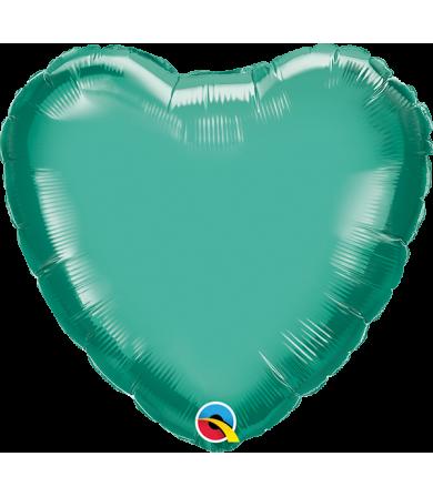 "89650 Chrome™ Green Heart (18"")"