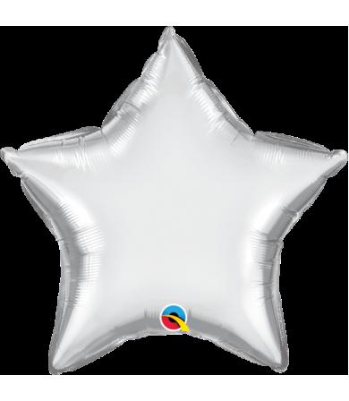 """Q89654 Chrome™ Silver Star (20"""")"""