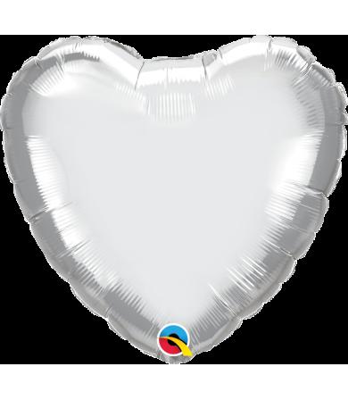 """89611 Chrome™ Silver Heart (18"""")"""
