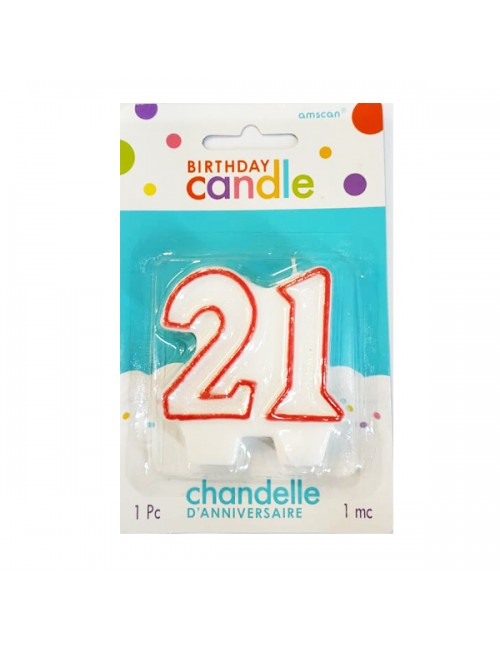 Candle - 21 Numeral Molded Birthday Candle 170680