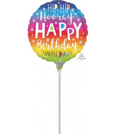 "39646 Hip Hip Hooray Birthday (4"")"