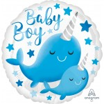 """39634 Narwhal Baby Boy (18"""")"""