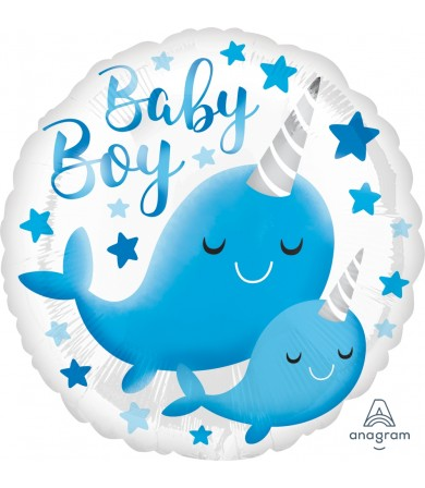 "39634 Narwhal Baby Boy (18"")"