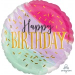 """39949 Water Color Birthday (18"""")"""