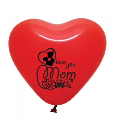 "Pre-Order - 12"" Heart Shaped 1 side print - Love You Mum"