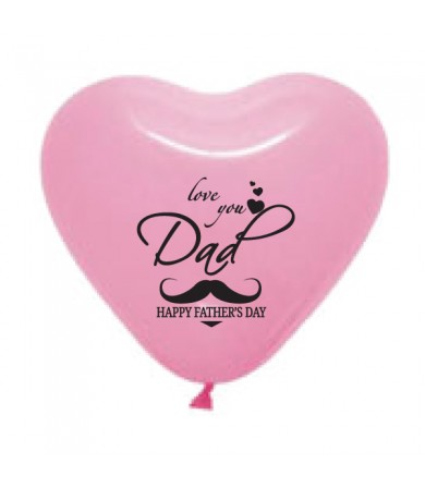 "Pre-Order - 12"" Heart Shaped 1 side print - Love you Dad"