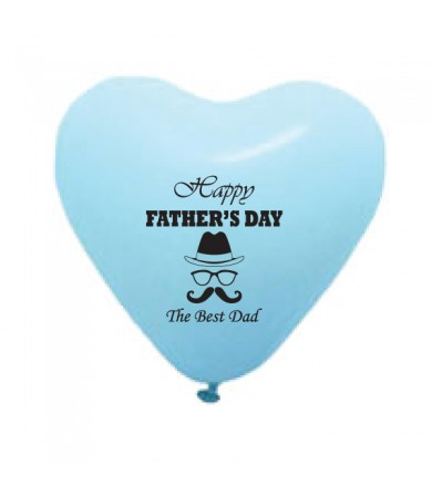 "Pre-Order - 12"" Heart Shaped 1 side print - Happy Father's Day"
