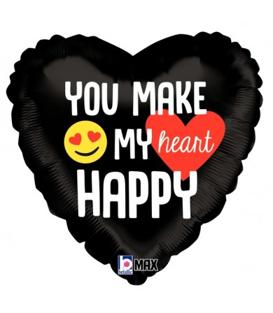 "36764 Emoji Happy Heart (18"")"