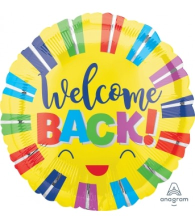 "39943 Welcome Back Colorful Stripes (18"")"