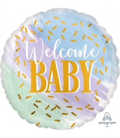 """39635 Watercolor Welcome Baby (18"""")"""