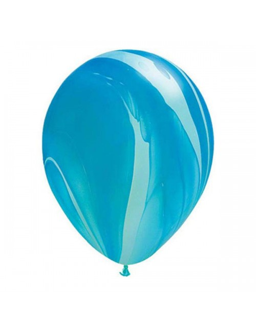 "Qualatex 11"" Round Balloon Blue Superagate"