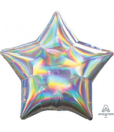 "39270 Iridescent Silver Star (19"")"