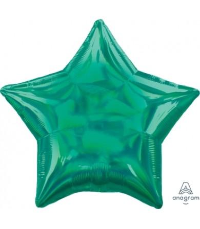 """39269 Iridescent Green Star (19"""")"""