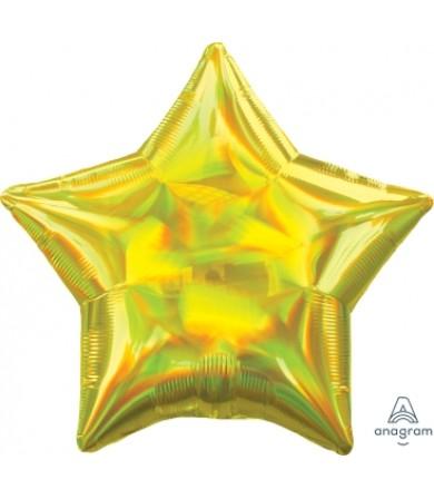 """39266 Iridescent Yellow Star (19"""")"""