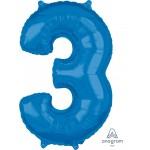 """36628 - Number -3- Blue (26"""")"""