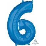 """36631 - Number -6- Blue (26"""")"""