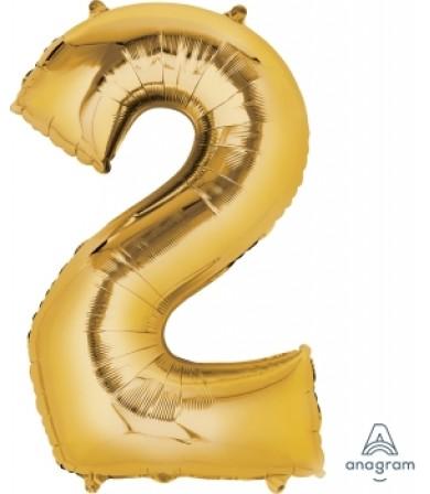 "28246 - Number -2- Gold (34"")"