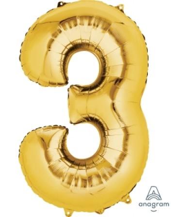 "28248 - Number -3- Gold (34"")"
