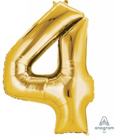 "28250 - Number -4- Gold (34"")"