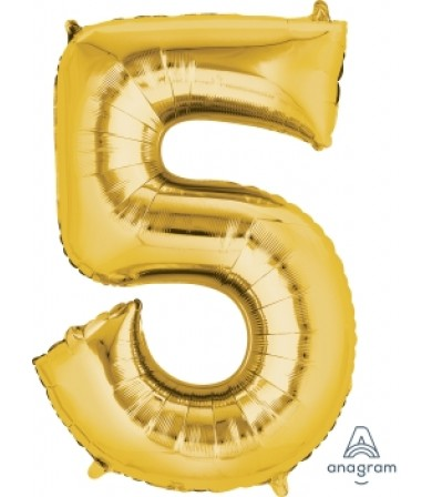 "28252 - Number -5- Gold (34"")"