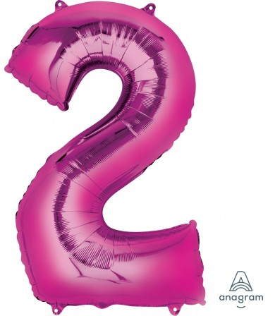 "28278 - Number -2- Pink (34"")"