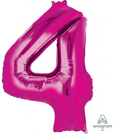 "28284 - Number -4- Pink (34"")"