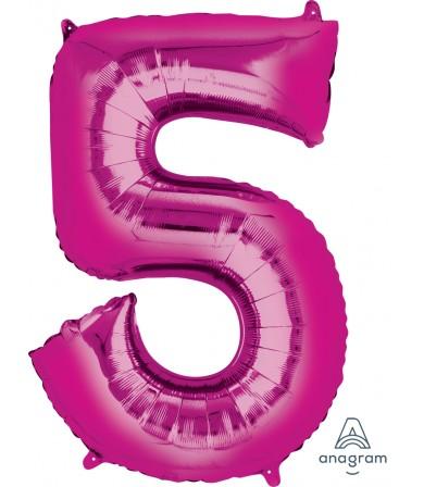 "28287 - Number -5- Pink (34"")"