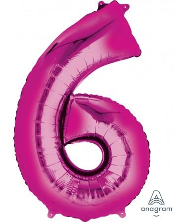 "28290 - Number -6- Pink (34"")"