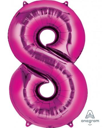 "28296 - Number -8- Pink (34"")"