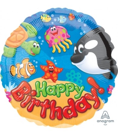"40039 Trend Sea Buddies Happy Birthday Day (18"")"