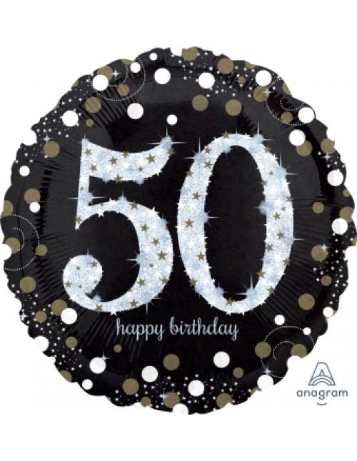 "32131 Sparkling Birthday 50 (18"")"