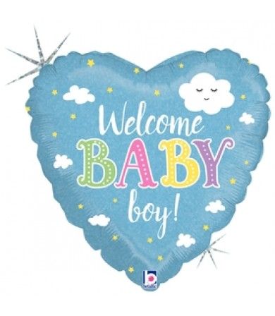 """36874P Welcome Baby Boy (18"""")"""