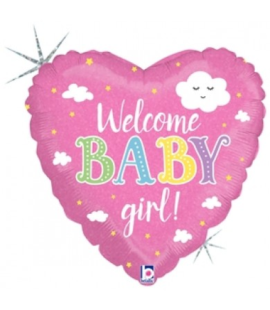 "36875P Welcom Baby Girl (18"")"
