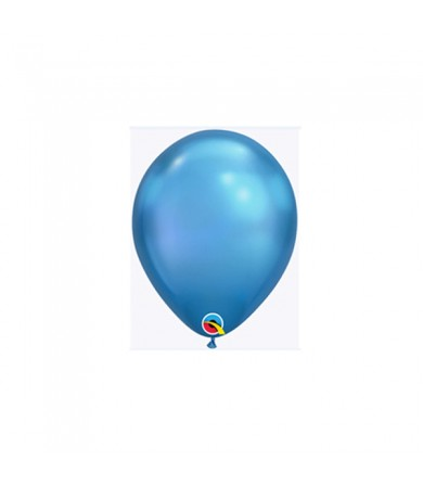 "Qualatex 7"" Round Balloon Chrome Blue ( 100 )"