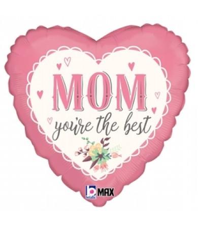 """32783 Vintage Best Mom (9"""")"""