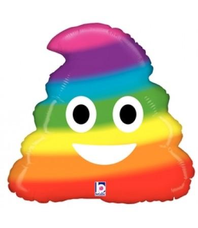 """35681P -Emoji Rainbow Poo (20"""")"""
